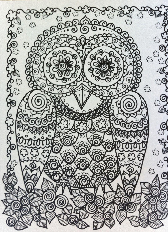 Sugar skull style owl? | Coloriage | Pinterest | Colorear, Mandalas ...