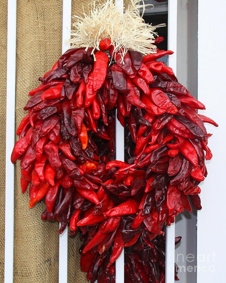 Chili Wreath By Robin Waters