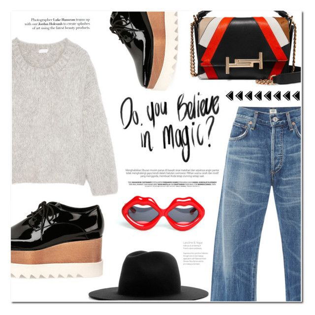 """""""Do you Believe in Magic?"""" by makeupgoddess ❤ liked on Polyvore featuring Citizens of Humanity, Chloé, Tod's, Études, STELLA McCARTNEY and Linda Farrow"""