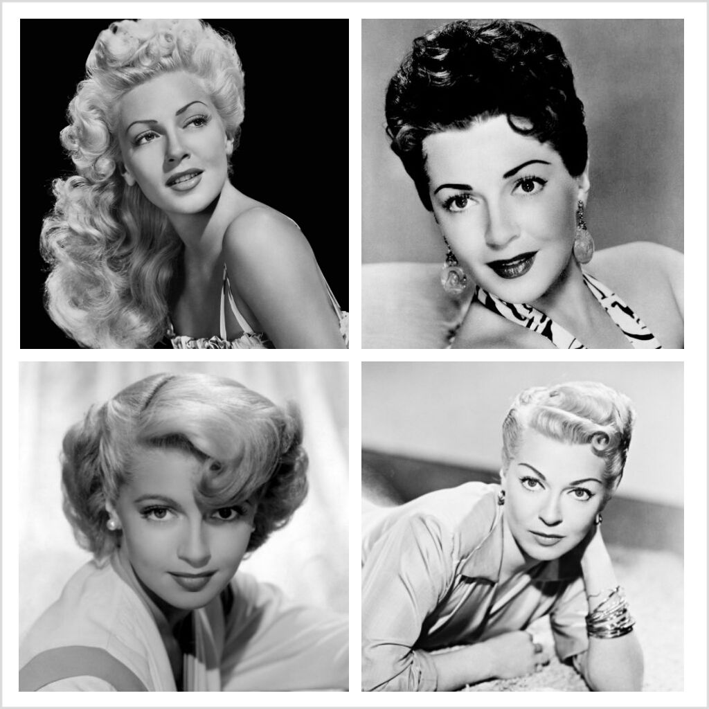 Various Lana Turner hairstyles in the 1940s and 1950s ...