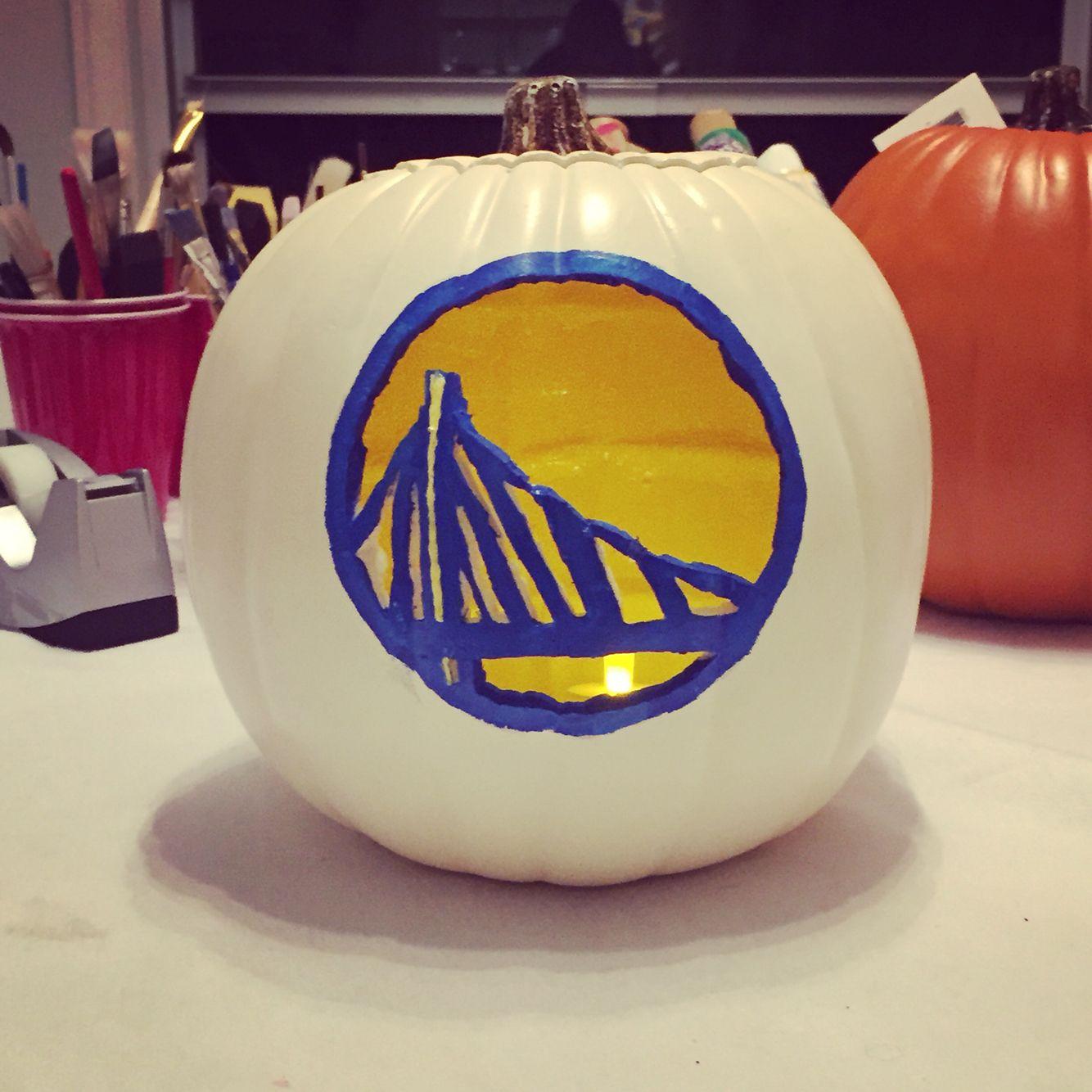 Golden State Warriors foam pumpkin