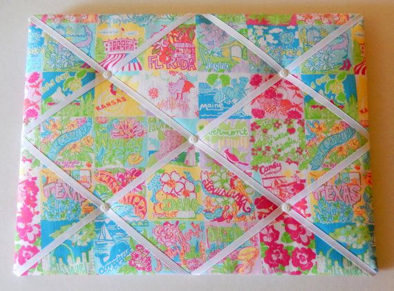 New Memo Board Made With Lilly Pulitzer State OF Mind Fabric Dorm Fascinating Lilly Pulitzer Memo Board