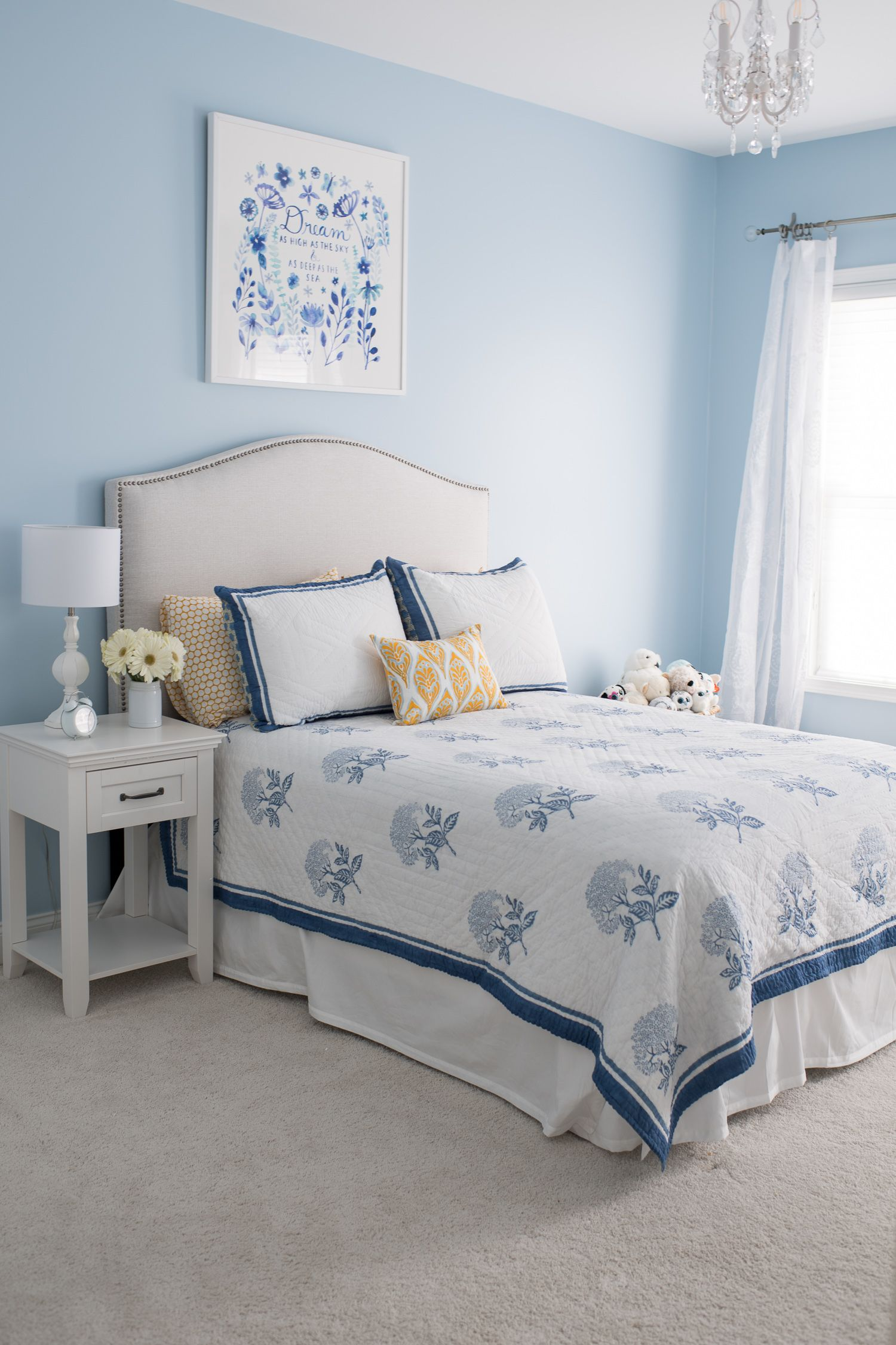 This Post Is Sponsored By Serena And Lily All Opinions However Are My Own Serena And Lily Bedding Relaxe Blue Bedroom Walls Blue Bedroom Decor Blue Bedroom