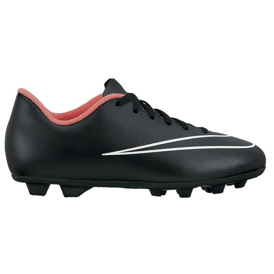 Nike Mercurial Vortex II FG Soccer Cleats Youth Boys Girls Black/Pink Sz/  12C
