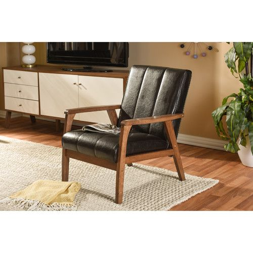 Found it at Wayfair - Nikko Mid-Century Modern Scandinavian Lounge Chair