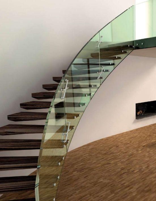 Europa Kragarmtreppe Glas Geländer Geländer Pinterest - exklusives treppen design