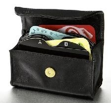 Card Cubby Credit Card /Business Card organizer wallet - Classic Black