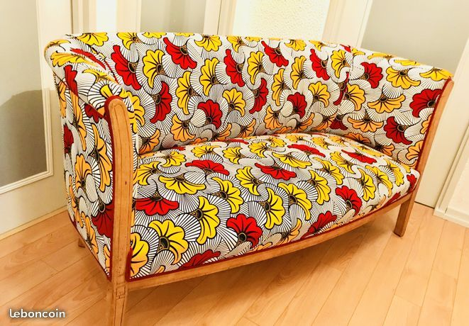 Canap en tissu africain wax ameublement nord ambiances habitation mobilier - Canape style africain ...