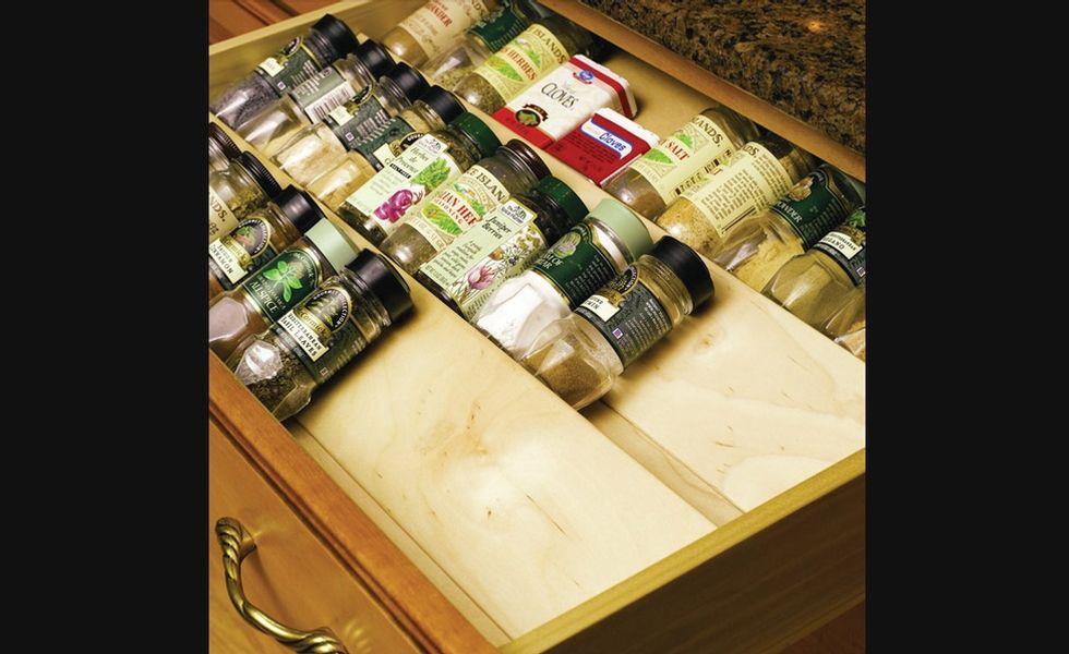 Diviseur pices en bois rangement pour armoires de cuisine accessoires de cuisine - Accessoires de rangement pour cuisine ...