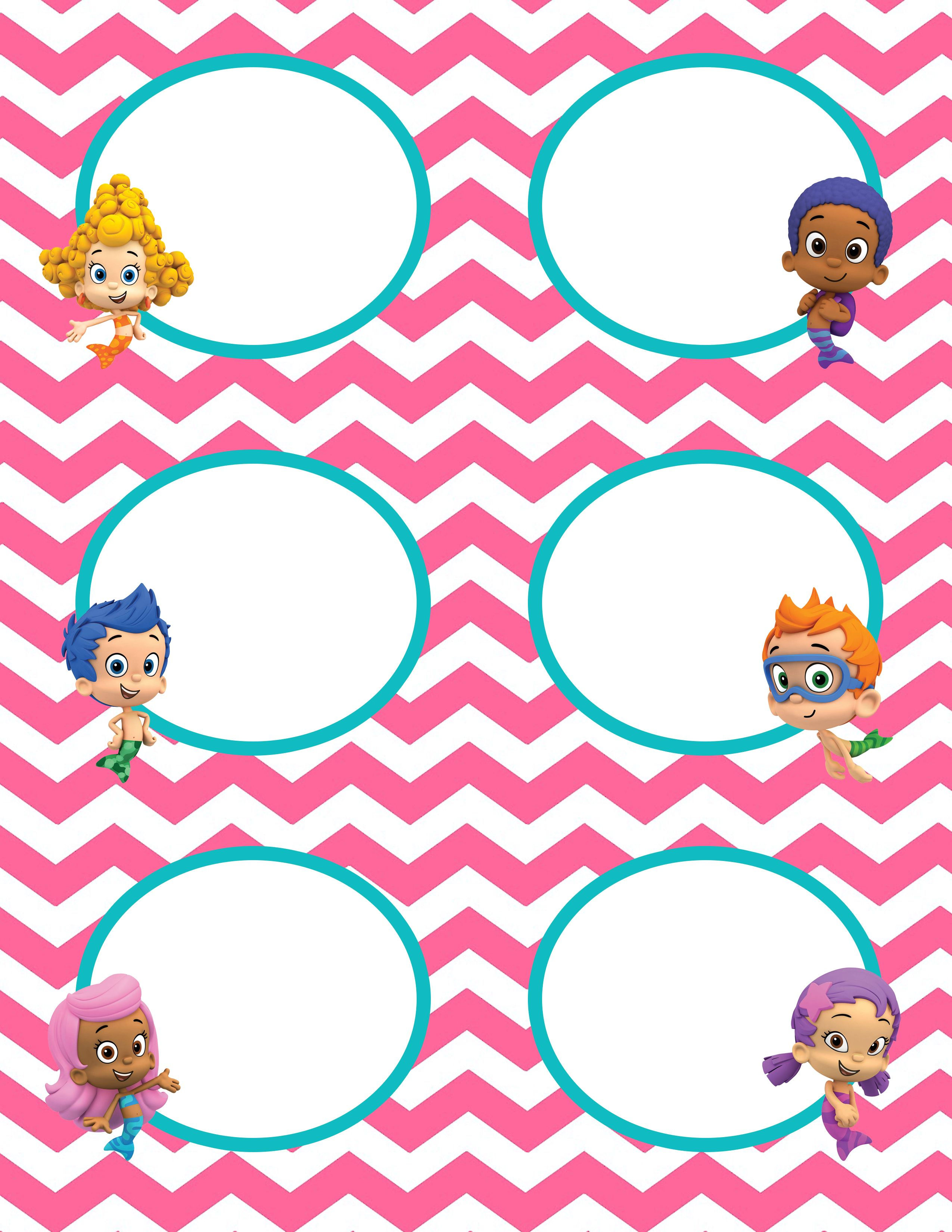 It's just a graphic of Gargantuan Free Bubble Guppies Printables