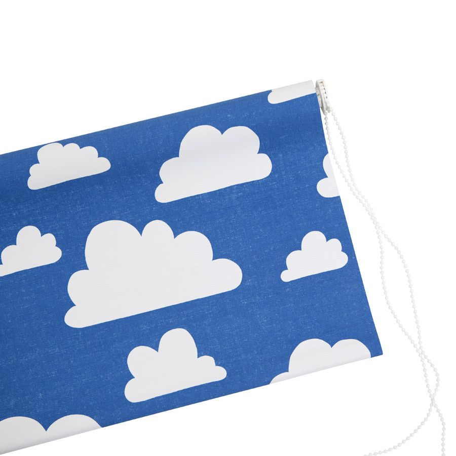 Farg form baby changing table mat grey clouds - Farg Form Blackout Roller Blind Blue White Moln Clouds