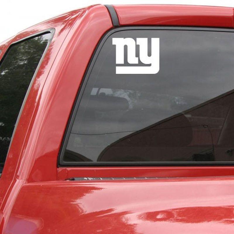 New York Giants 8x8 White Team Logo Decal Sports