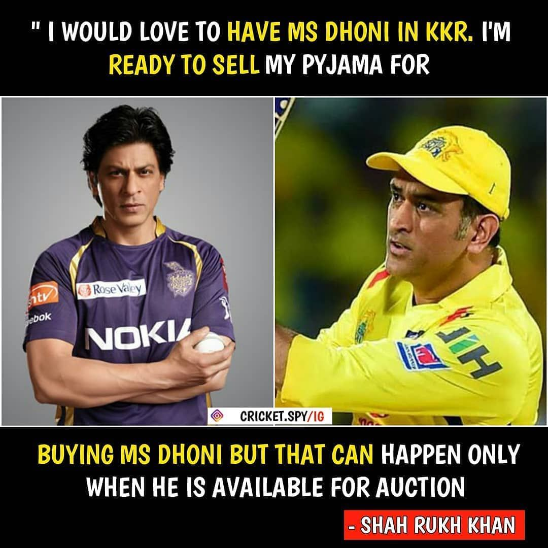 Csk Fan Club 2020 Shared A Photo On Instagram Srk On Msd Cre Cricket Spy See 911 Photos And Video Ms Dhoni Photos Crickets Funny Ms Dhoni Wallpapers