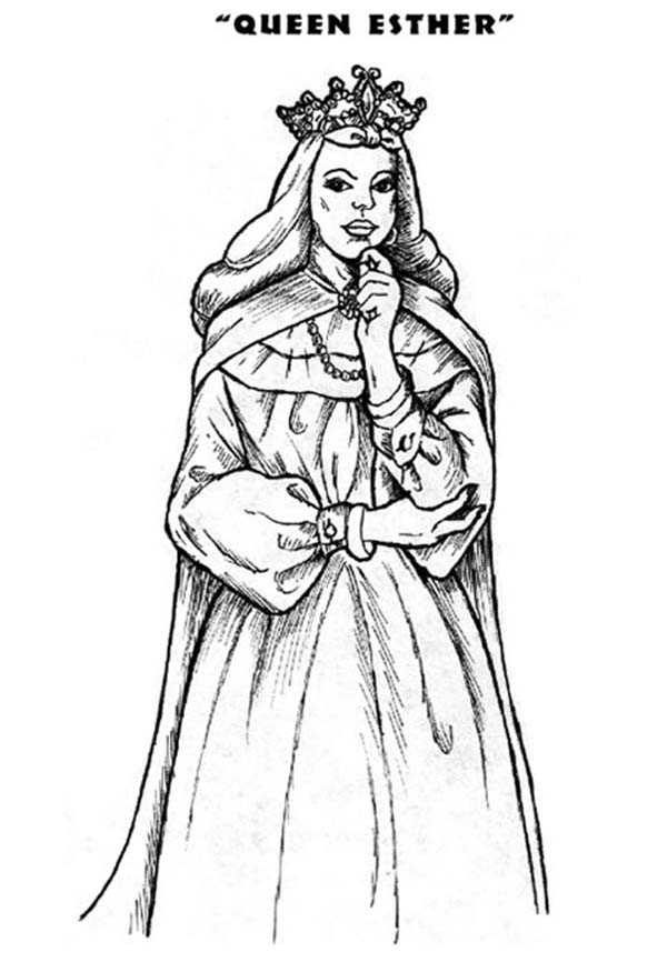 Queen Esther Thinking Hard Coloring Pages Download Print Online Coloring Pages For Free Color Nimbus Queen Esther Coloring Pages Online Coloring Pages