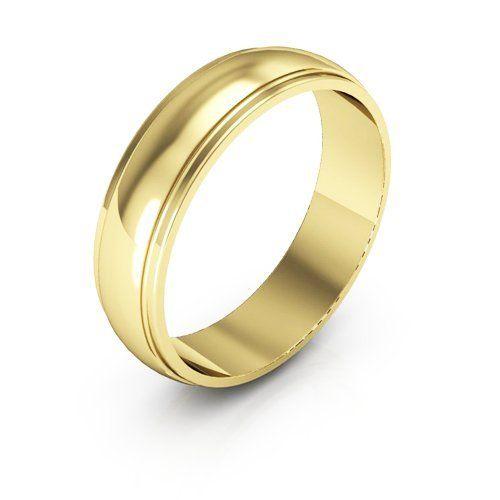 Edged Half Round Wedding Band 2MM Mens 18K White Gold