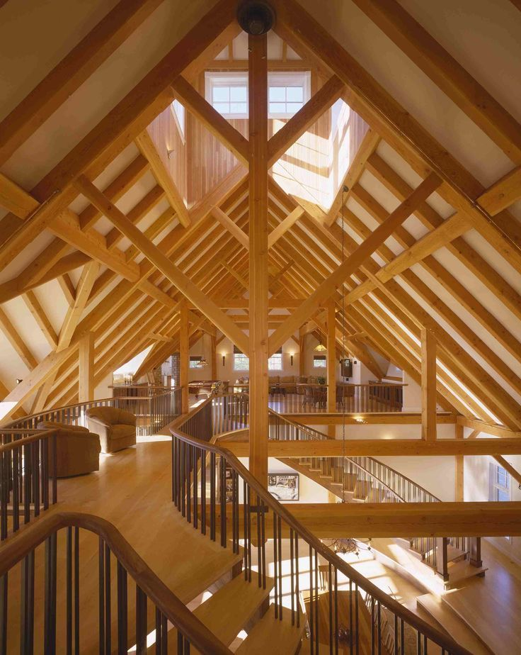 Beautiful Timber Frame Interior | Favorite Places & Spaces | Pinterest