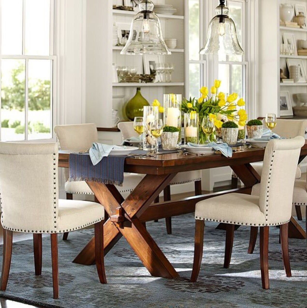 Potterybarn tables pinterest room tables and kitchens