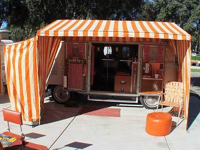Original complete VW bus orange/white Westfalia tent u0026 poles & Original complete VW bus orange/white Westfalia tent u0026 poles ...