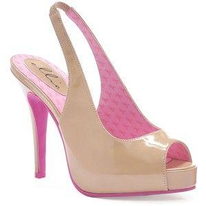 HOT PINK PATENT LEATHER PUMPS PICS    Beige & Pink Open Toe Mary Ellen Awareness Slingback Heels