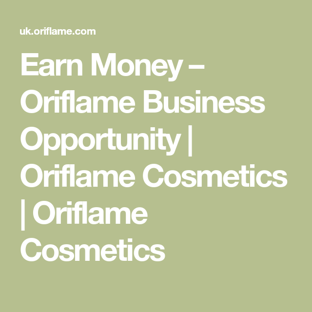 Oriflame How To Make Money