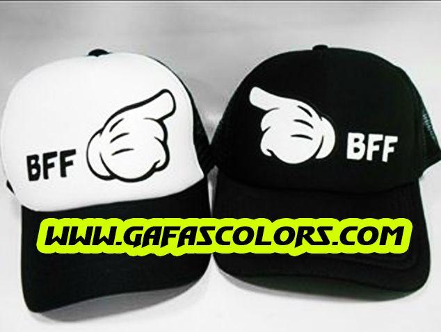 Gorras estampadas de Mejores Amigas personalizadas planas y malla - love  GafasColors.com 858fbed553d