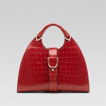 Gucci 277514 Ej50g 6413 Stirrup'Medium Top Griff Tasche mit Steigb��gel Detai Gucci Damen Handtaschen