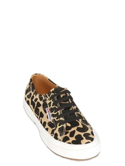 SUPERGA FOR THE BLONDE SALAD - LEOPARD PRINTED PONYSKIN SNEAKERS - LUISAVIAROMA - LUXURY SHOPPING WORLDWIDE SHIPPING - FLORENCE #chiaraferragni #theblondesalad
