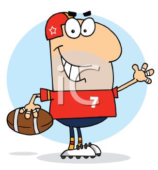 iclipart cartoon clip art image of a man playing football sports rh pinterest com football cartoon clipart free