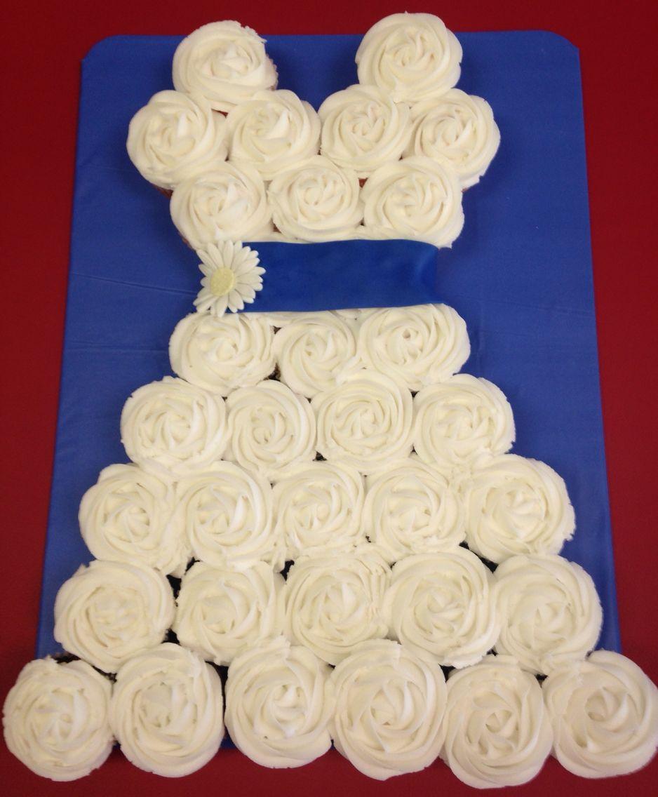 Bridal dress cupcakes
