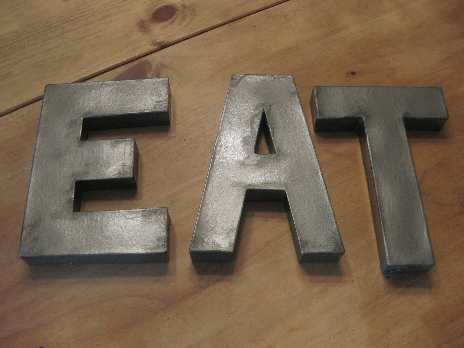 Wood And Metal Letters Make Metal Letters With Either Ply Wood And Paint With Metal