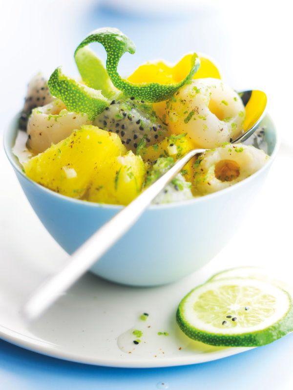 salade de fruits exotiques ce dessert picard est compos d 39 ananas de mangue de litchi. Black Bedroom Furniture Sets. Home Design Ideas