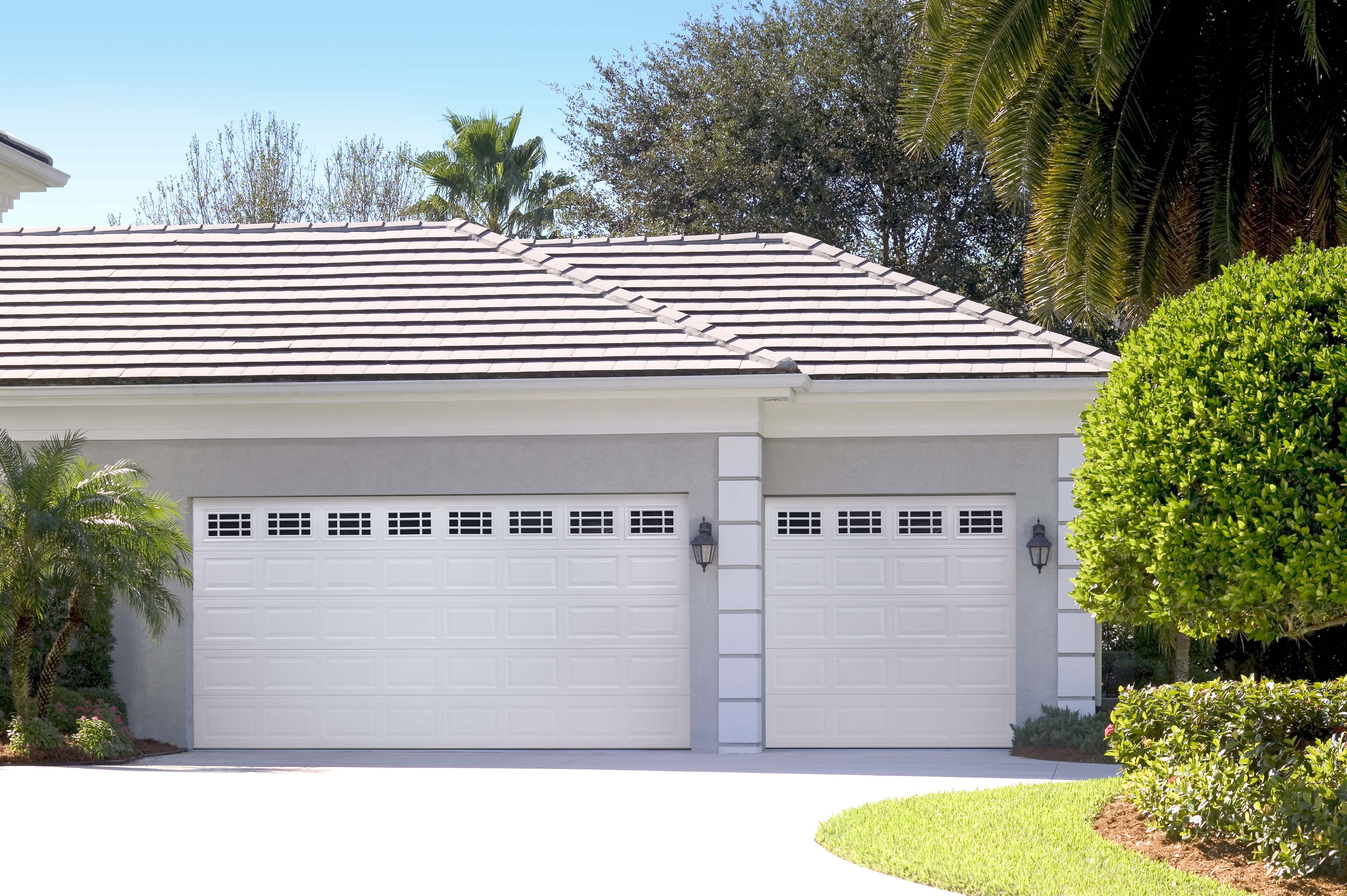 Amarr Short Panel Garage Door In True White With Prairie Windows. Available  In Olympus,
