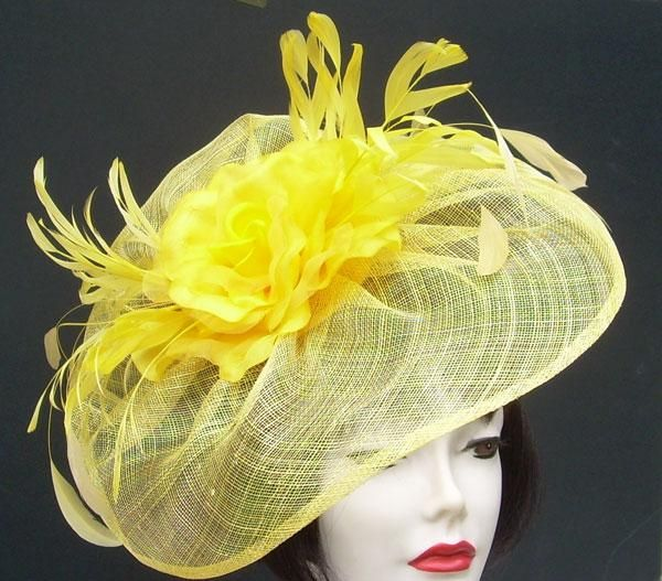 Yellow Rose Profile Fascinator. This is the hat I want the most!