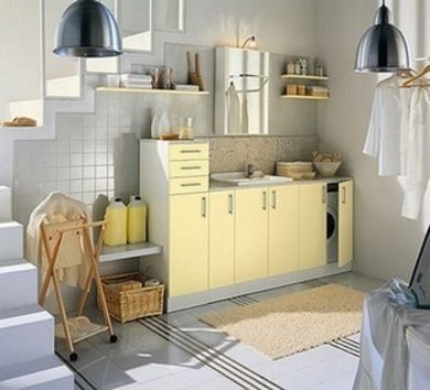 Laundry room decor and storage solutions #3