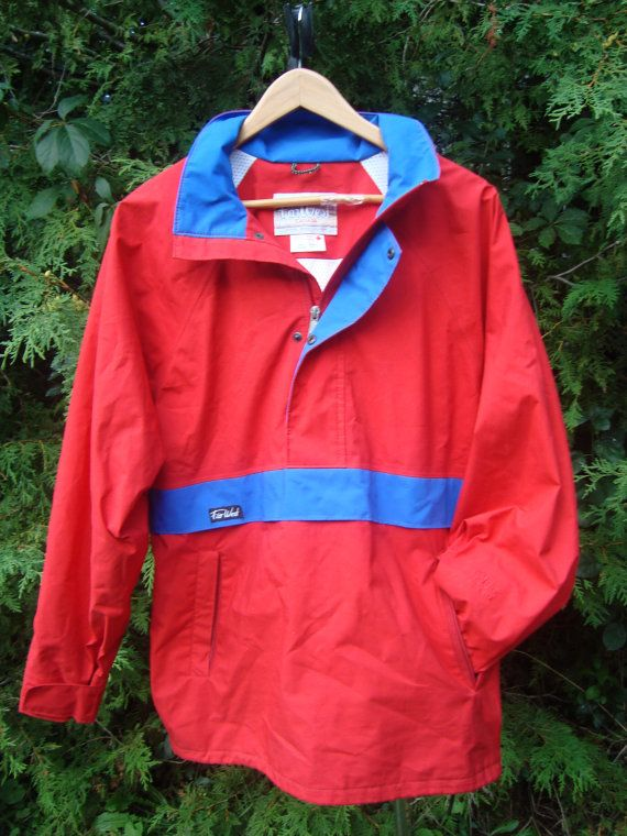 8403dd3c8f Classy Vintage Far West Jacket 90s Pullover Jacket Goretex Red Blue ...