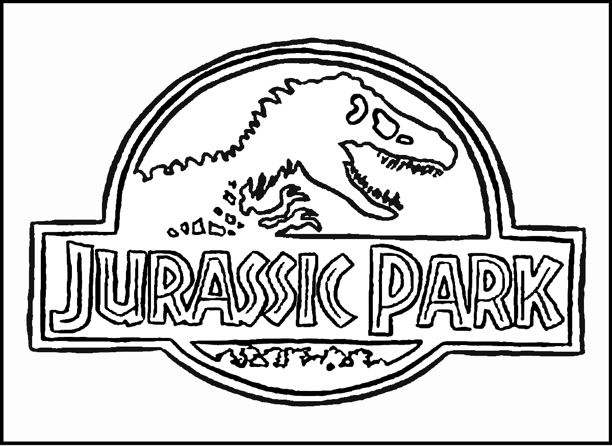 Colouring in jurassic park - Jurassic World Coloring Pages
