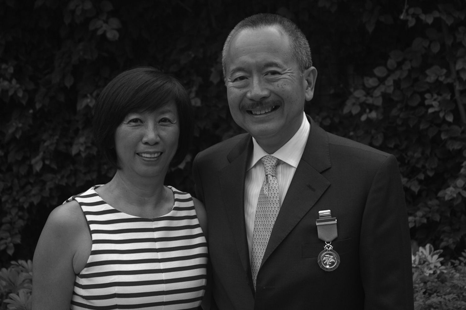 Karl Kwok '71 was given a Medal of Honor by the Hong Kong