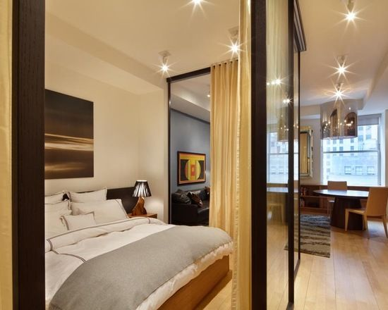 Design Ideas Small Bedroom With Sliding Glass Doors Curtains For
