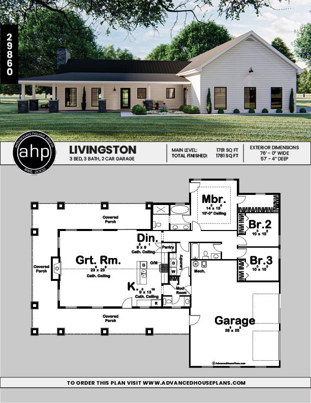 1 Story Barndominium Plan   Livingston