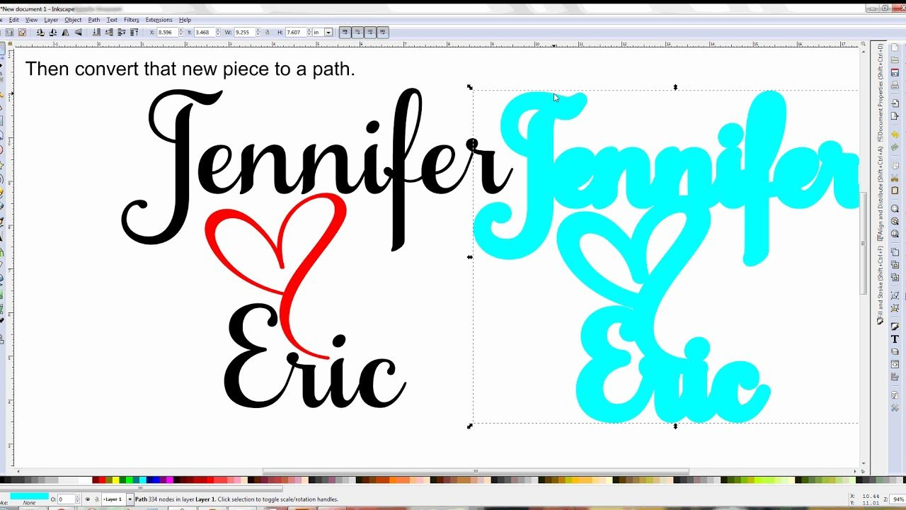 Inkscape - Creating an Offset Template | Die Cutting