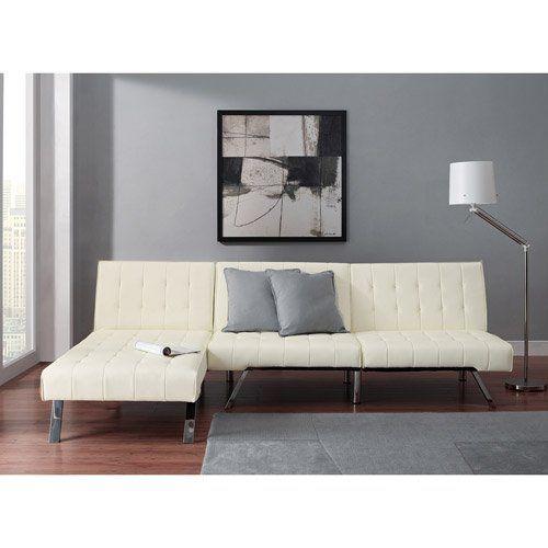 emily futon with chaise lounger super bonus set vanilla white emily http   smile emily futon with chaise lounger super bonus set vanilla white