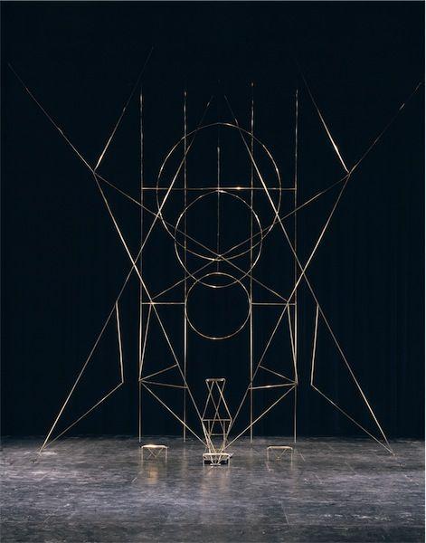 Isamu Noguchi – Set elements for Martha Graham Dance Company's production Seraphic Dialogue, 1955