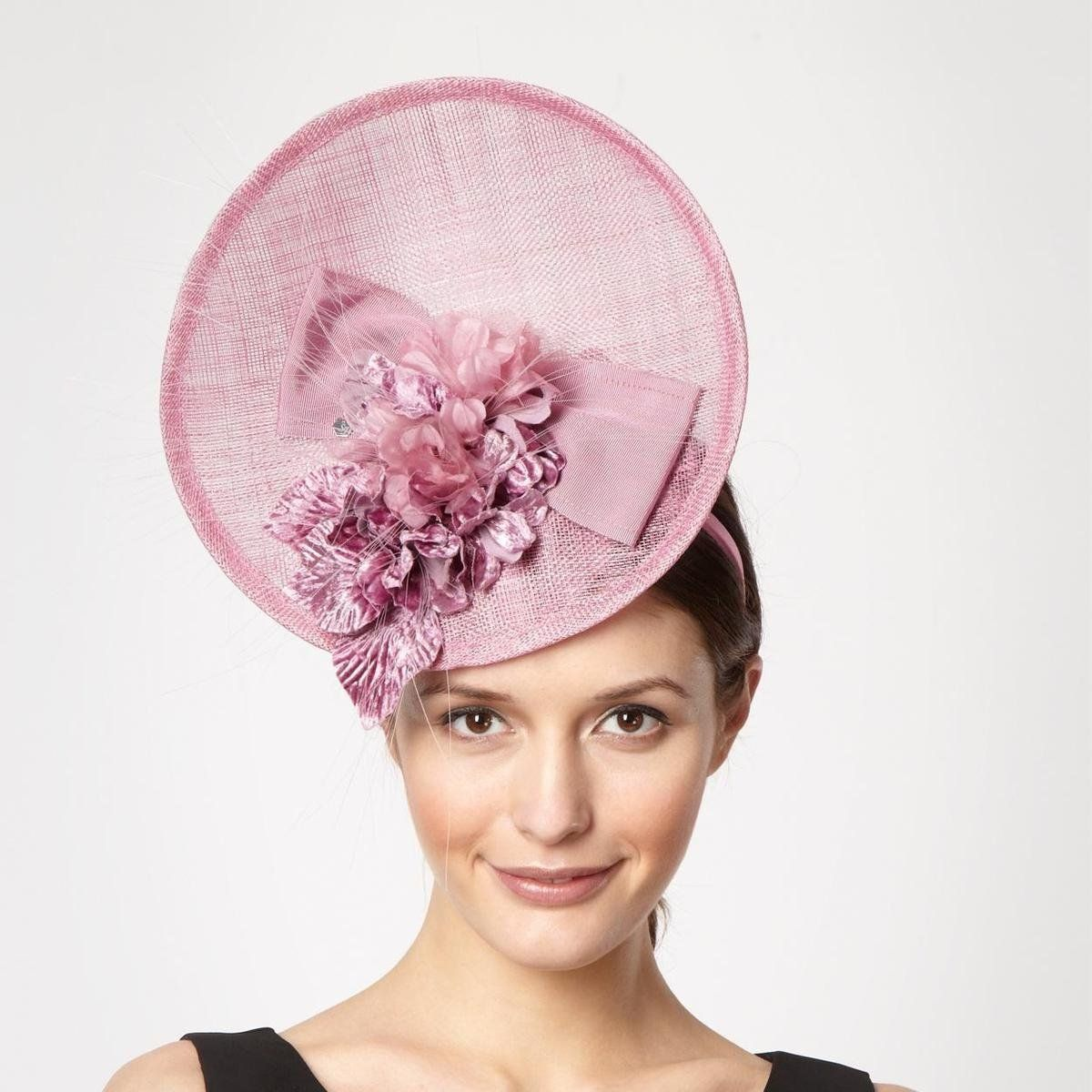 pale pink and navy fascinator - Google Search  cfc58d1065e