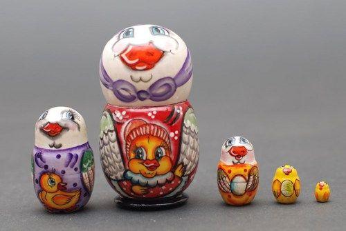 Matryoshka nesting doll duck Free shipping Worldwide   ArtMatryoshka - Toys & Hobbies on ArtFire