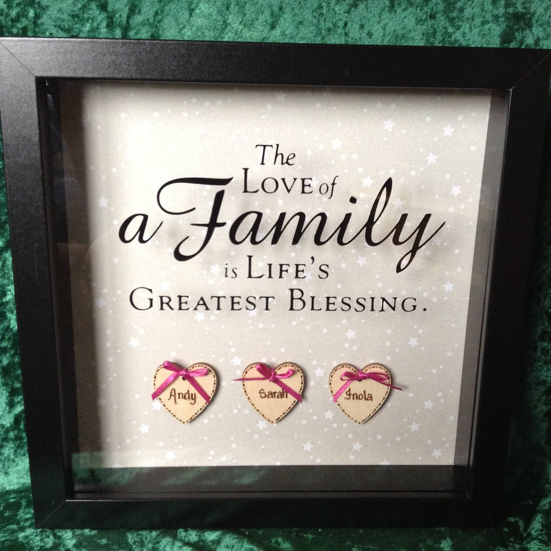 Christmas Gift for Parents Mom Dad Family Personalized Picture Frame /'I Find as I Grow Older/' Quote