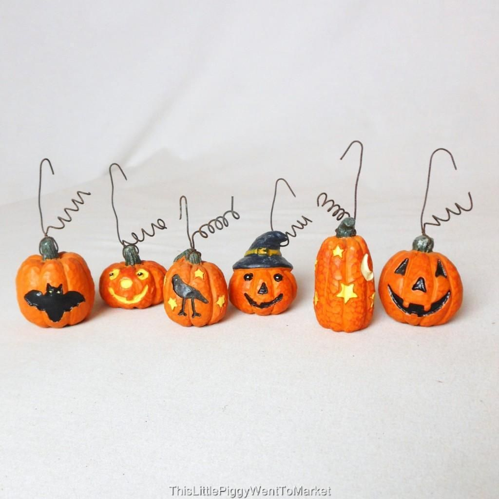 The Salem Collection - MINI JACK-O-LANTERN HALLOWEEN ORNAMENTS ...