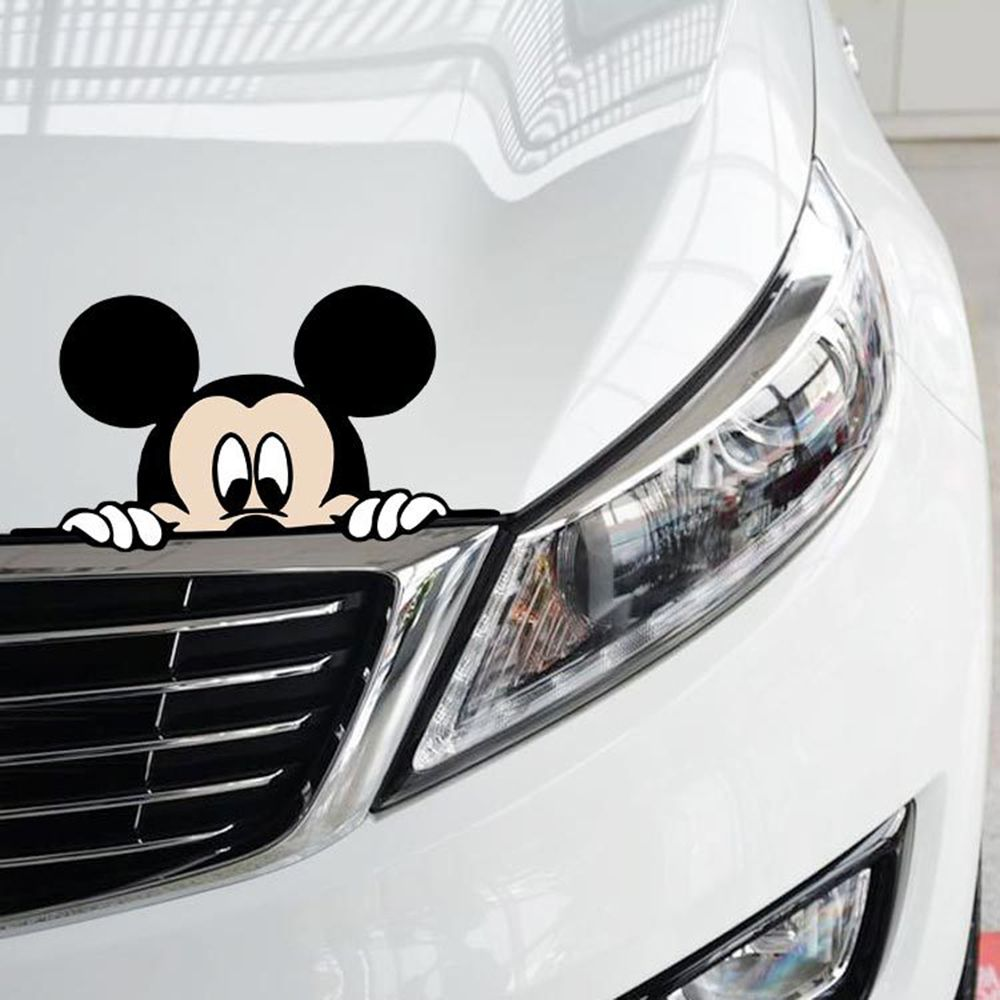 Funny Car Sticker Cute Mickey Mouse Peeping Cover Scratches - Funny decal stickers for carssticker car window picture more detailed picture about funny car