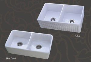 Ordinaire Mitrani Fireclay Farmhouse Sink Double Bowl 33 X 20 X 10