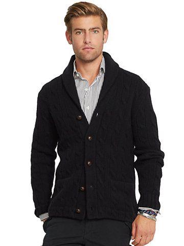 Cable-Knit Wool Shawl Cardigan - Cardigan & Full-Zip  Sweaters - RalphLauren.com