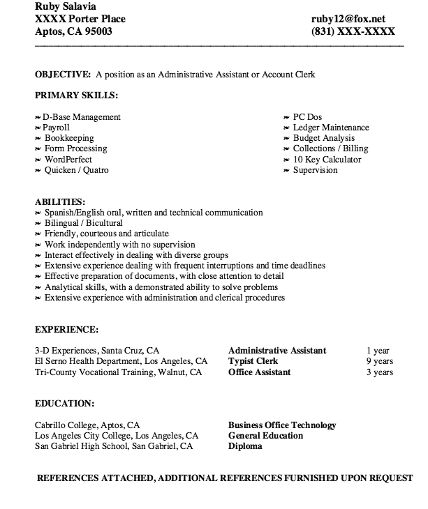 Account Clerk Resume Sample  HttpResumesdesignComAccount